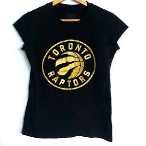 Toronto Raptors Gold Big Logo T-Shirt M